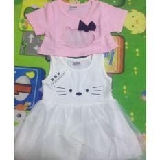 Sexe Mara Gaun untuk Bayi Perempuan Musim Panas 2017 Kids Lengan Pendek T-shirt + Dress 2 Pcs Bayi Gadis Pakaian Set-Intl