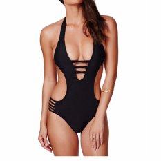 Seksi Bahkan Body Swimwear Eropa Utara dan Amerika Perban Bikini Exlude Bantalan Hitam-Intl