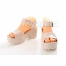 Jual Myanka S*xy Jelly Shoes Dodwel Krem Branded Murah