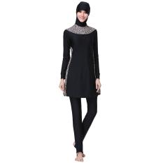 Harga S*xy Leopard Islam Swimsuit Black Full Cover Hijab Sederhana Swimwears Burkini Untuk Muslim Wanita Perempuan Intl Oem Ori