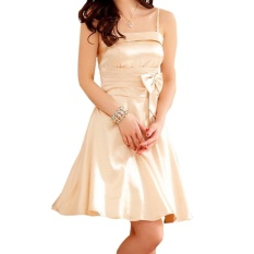 Sexy Party Dress Empire Waist Pleated Bowknot Mini Dress