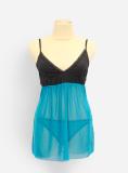 Jual S*xy Sleep S*xy Lingerie Transparan Mm10 Blue Branded