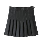 Jual S*xy Wanita Pinggang Tinggi A Line Lipit Rok Tenis Solid Mini Rok Intl Online Tiongkok