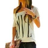 Jual Cepat S*xy Women鈥榮 Lengan T Shirt Putih