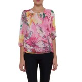 Review Toko Sezara Atasan Flower Print Top L1460 Pink