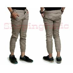 Beli Sh Celana Joger Pria Joger Pants Keren Khaki Impresif Online