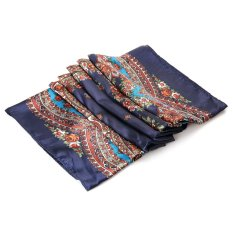 SH Chic Imitative Silk Square Scarf Women Hijab with Jacquard Design Deep blue - intl