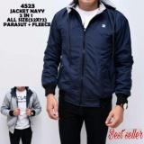 Harga Sh Jaket Pria Model Bolak Balik 2In1 Keren Biru Navy Dalam Abu Muda Baru