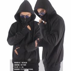 Harga Sh Jaket Pria Ninja Hoodie Original Keren Hitam Baru Murah
