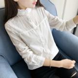 Daftar Harga Korea Fashion Style Lengan Panjang Wanita Baru Katun Kemeja Kemeja Putih Putih Oem
