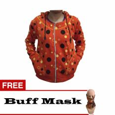 Beli Shae Jacket Wanita Polka Dot Fleece Jingga Free Buff Mask Nyicil