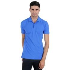 Shafiyya Official - Kaos Lengan Pendek Pria Polos Polo Shirt Lacost Katun - Biru Tua