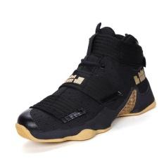 SHAKE Baru Basket Sepatu Individual Soldier Boots High sneakers (kuning Hitam)-Intl