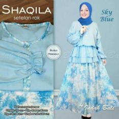 Shaqila (Setelan Rok) Sky Blue