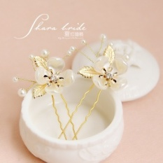 Shayla New new leaf flower beaded bridesmaid wedding jewelry bridal headdress hairpin styling accessories supplies - intl