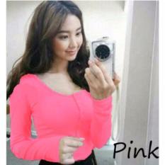Review Shella Top Pink Atasan Wanita Tshirt Wanita Atasan Panjang Dki Jakarta