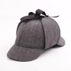 Sherlock Holmes Hat Novelty Gifts Movie Deerstalker Cosplay Hat Detective Cap Unisex Costumes Flat Caps Hip Hop Accessories Grey