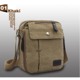 Beli Shimon Men Messenger Bag Canvas Vintage Shoulder Crossbody Bags Outdoor Travel Bag Khaki Dengan Kartu Kredit