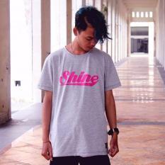 Jual Shine Co T Shirt Pria Abu Abu Online