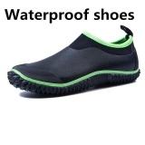Harga Shine Men S Pendek Boots Hujan Sepatu Neon Hijau Rendah Untuk Membantu Fashion Karet Rain Boots Cuci Mobil Sepatu Sepatu Hitam Intl Tiongkok