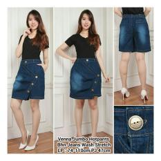 Jual Shining Celana Rok Venni Hot Pant Jeans Jumbo Biru Tua Murah Banten