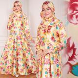 Harga Shining Collection 2In1 Maxi Gamis Bunda Longdress Pashmina Kuning Paling Murah