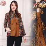 Harga Shining Collection Atasan Blouse Batik Fera Kemeja Wanita Coklat Dan Spesifikasinya