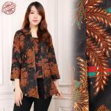 Spesifikasi Shining Collection Atasan Blouse Batik Isyana Abaya Kemeja Wanita Coklat Paling Bagus