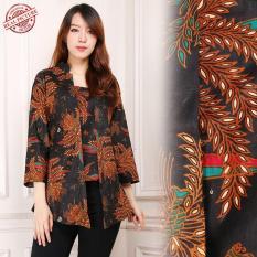 Harga Shining Collection Atasan Blouse Batik Isyana Abaya Kemeja Wanita Coklat Original