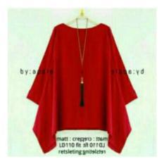 Jual Shining Collection Atasan Blouse Kebaya Cinta Batwing Jumbo Merah Branded