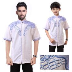 Shining Collection Baju Koko Marhaban Kemeja Muslim Lengan Pendek ayah dan anak