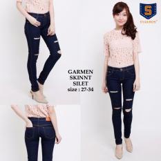 Jual Shining Collection Celana Jeans Panjang Sobek Shireen Celana Jeans Sobek Wanita Jumbo Murah Banten