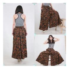 Shining Collection Celana Kulot Cokkip Batik Jumbo Long Pant-Coklat
