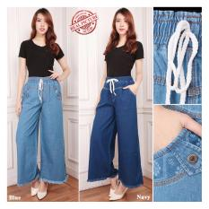 Diskon Shining Collection Celana Kulot Jeans Panjang Tika Long Pants Wanita