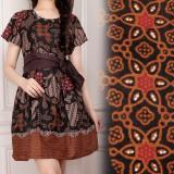 Harga Shining Collection Midi Dress Batik Rosdiana Short Dress Wanita Coklat Baru Murah