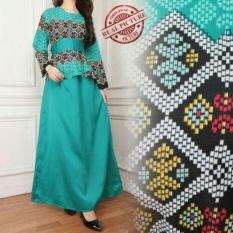 Shining Maxi dress Saharina Gamis Batik Jumbo-Multicolor