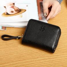 Jual Shishang Lapisan Pertama Dari Kulit Kapasitas Besar Perempuan Kecil Wallet Paket Kartu Hitam Branded