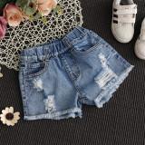 Spesifikasi Fashion Musim Panas Gadis Model Tipis Hot Pants Gadis Celana Pendek Denim Denim Biru Denim Biru Paling Bagus