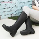 Spesifikasi Massolato Sepatu Boot Tinggi Wanita Anti Slip Hitam Sepatu Wanita Sepatu Boot Wanita
