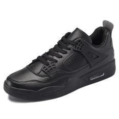 SHOCK Fashion Sepatu Pasangan Bernapas Nyaman Sepatu Air Cushion Basket Sepatu (hitam)