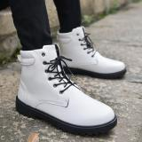 Ongkos Kirim Shock Winter Cotton Men Boots British Casual Ankle Boots White Intl Di Tiongkok
