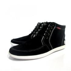Beli Ewn Sepatu Sneaker High Cut Casual Pria Sepatu Sneaker Sepatu Kasual Pria Hitam Secara Angsuran