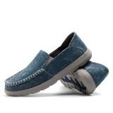 Miliki Segera Sepatu Ukuran Besar Lazy Sepatu Pria Sailboat Sepatu Sepatu Santai Bernapas Kanvas Sepatu Nyaman Mengemudi Peas Sepatu Intl