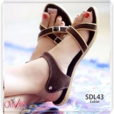 Shoes Sandal Wanita Tali / Sendal Sepatu Wanita SDL43 - Coklat