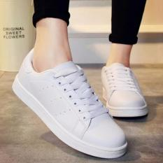 Harga Shoes Zora Bolong Samping White Shoes Asli