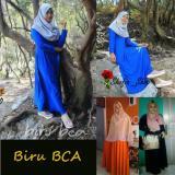 Shofia Biru Bca Gamis Polos Jersey Super Busui Muslimah All Size Fit To Xl Diskon Akhir Tahun