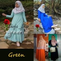 Harga Shofia Green Gamis Polos Jersey Super Busui Muslimah All Size Fit To Xl Branded
