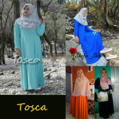 Shofia - Tosca- Gamis Polos Jersey Super Busui Muslimah All Size Fit to XL