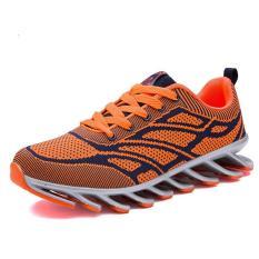 Jual Shok Comfortable Men Fashion Casual Shoes Fly Weave Mesh Shoes Orange Intl Ori