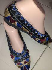 Toko Shopaholic Sepatu Bordir Etnik Asmat Biru Size 37 Shopaholic Di Yogyakarta